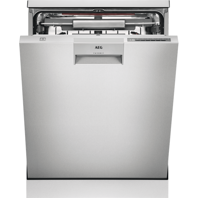 AEG ComfortLift FFE63806PM Standard Dishwasher - Stainless Steel - D Rated