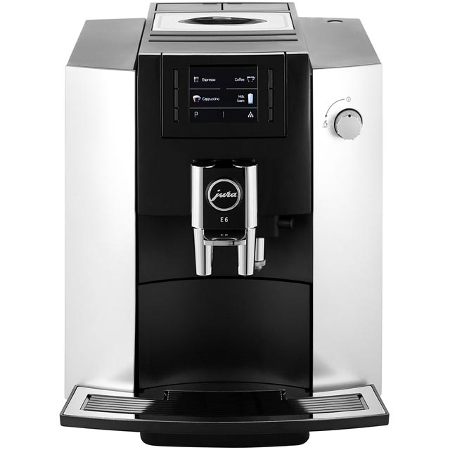 Jura E6 Bean to Cup Coffee Machine - Platinum
