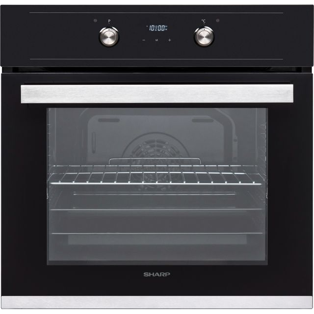 Sharp K-60D19BM1-EU Built In Electric Single Oven - Black - A Rated - K-60D19BM1-EU_BK - 1