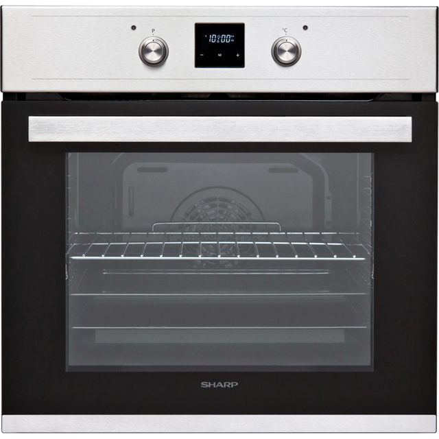 Sharp K-60D19IM1-EU Built In Electric Single Oven - Stainless Steel - A Rated - K-60D19IM1-EU_SS - 1