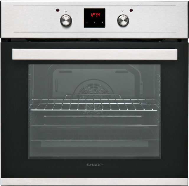 Sharp K-60D22IM1 Built In Electric Single Oven - Stainless Steel Effect - A Rated - K-60D22IM1_IX - 1
