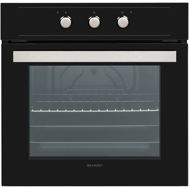 Sharp K-60M15BL2-EU Built In Electric Single Oven - Black - A Rated - K-60M15BL2-EU_BK - 1