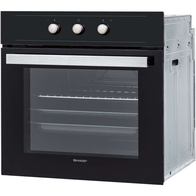 Sharp K-60M15IL2-EU Built In Electric Single Oven - Stainless Steel - K-60M15IL2-EU_SS - 2