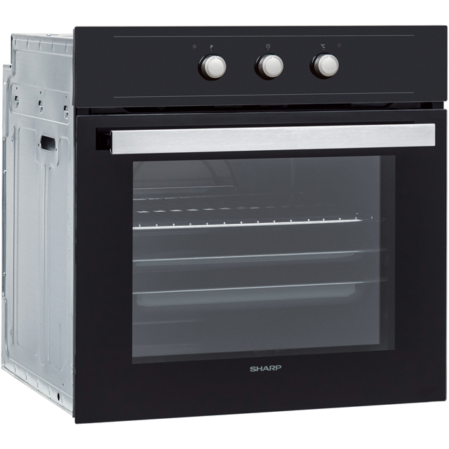 Sharp K-60M15BL2-EU Built In Electric Single Oven - Black - K-60M15BL2-EU_BK - 3