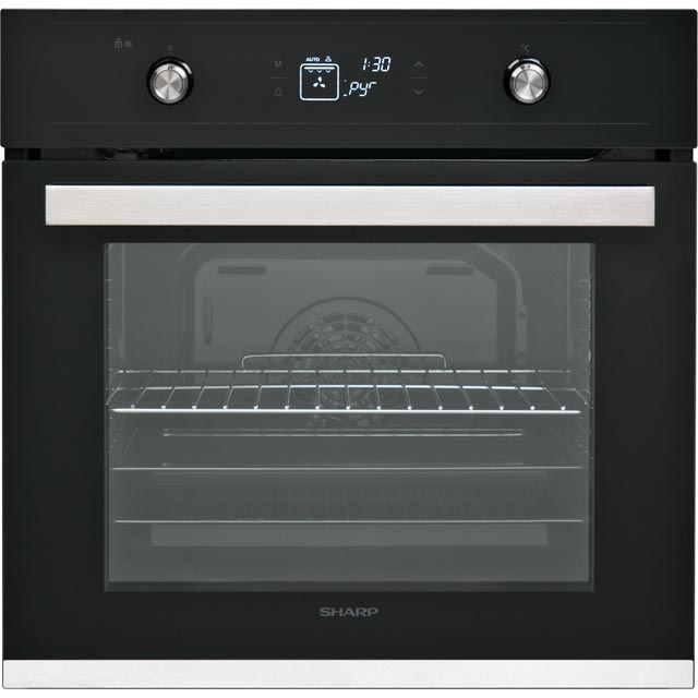 Sharp K-61V28BM1 Built In Electric Single Oven - Black - A Rated - K-61V28BM1_BK - 1