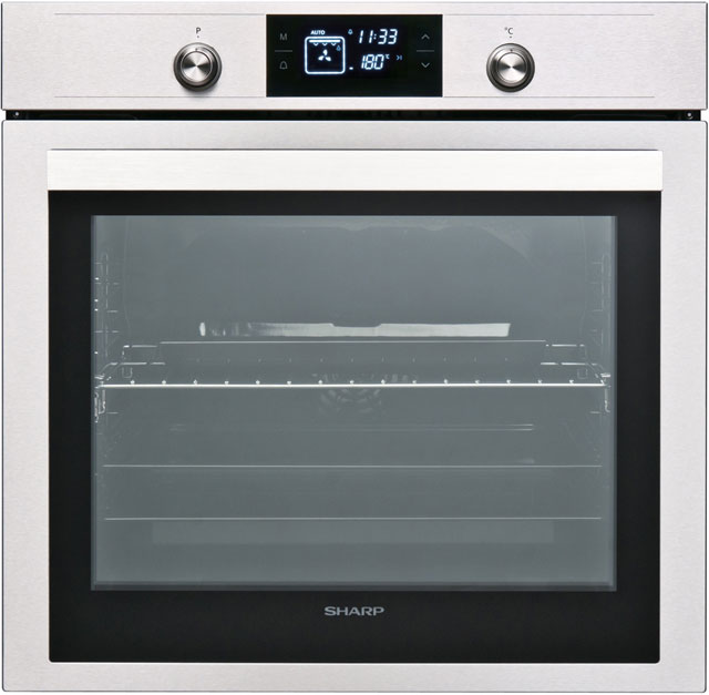 Sharp K-70V19IM2 Built In Electric Single Oven - Stainless Steel - A Rated - K-70V19IM2_IX - 1