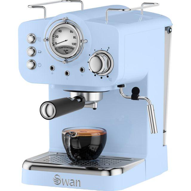 Swan Retro SK22110BLN Espresso Coffee Machine - Blue