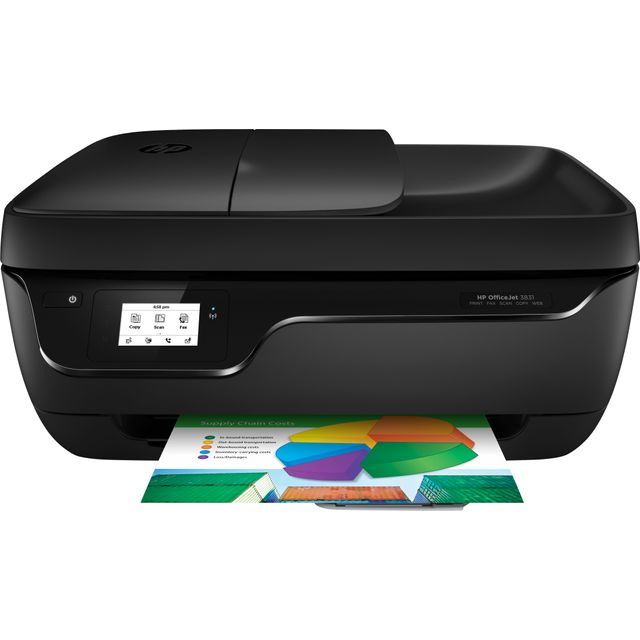 HP OfficeJet 3831 Inkjet Printer - Black - K7V45B#BEV - 1
