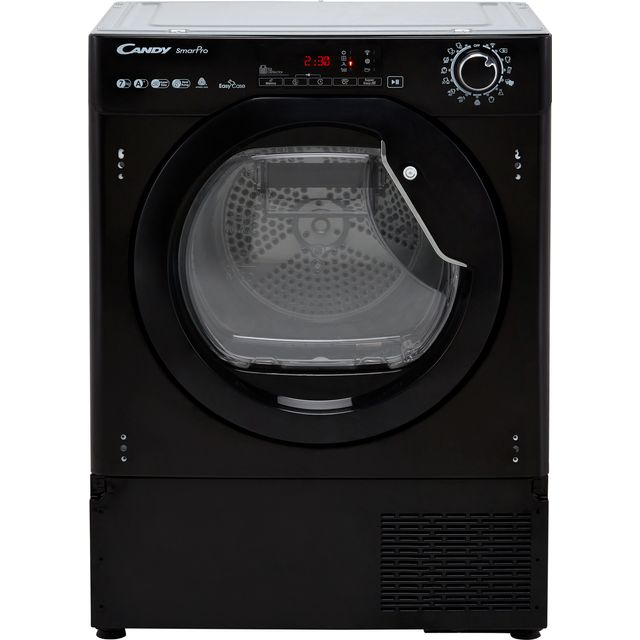 Candy BCTDH7A1TCEB Integrated Wifi Connected 7Kg Heat Pump Tumble Dryer - Black - A+ Rated