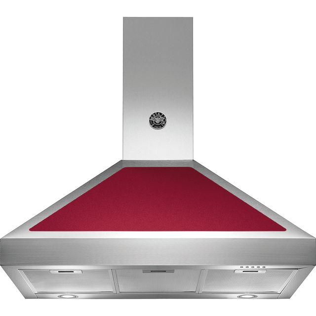 Image of Bertazzoni Master Series K90-AM-HVI-A 90 cm Chimney Cooker Hood - Burgundy - A Rated