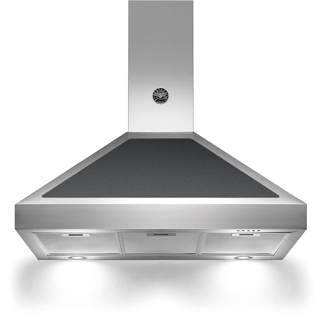 Bertazzoni Master Series K90-AM-HNE-A Built In Chimney Cooker Hood - Matt Black - K90-AM-HNE-A_BK - 1