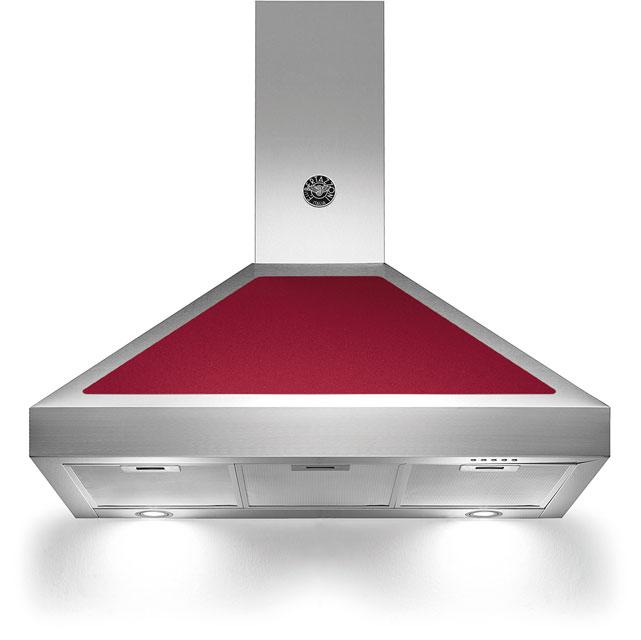 Bertazzoni Master Series K90-AM-HVI-A Integrated Cooker Hood in Burgundy