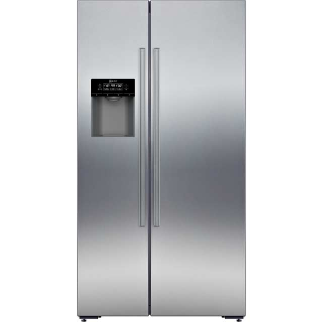 NEFF N70 KA3923I20G American Fridge Freezer - Stainless Steel - A+ Rated Best Price, Cheapest Prices