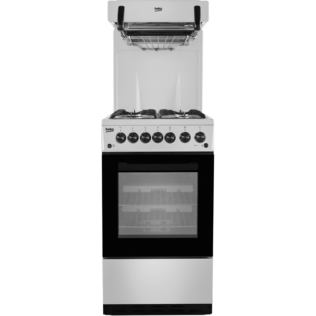 Beko KA52NES 50cm Gas Cooker with Full Width Gas Grill - Silver - A Rated - KA52NES_SI - 1