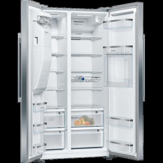 Bosch Serie 6 KAG93AIEPG American Fridge Freezer - Stainless Steel Effect - E Rated