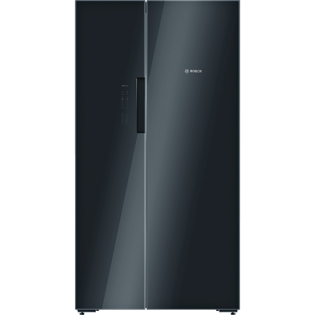 Bosch Serie 8 KAN92LB35G American Fridge Freezer - Black / Glass - A++ Rated - KAN92LB35G_BK - 1