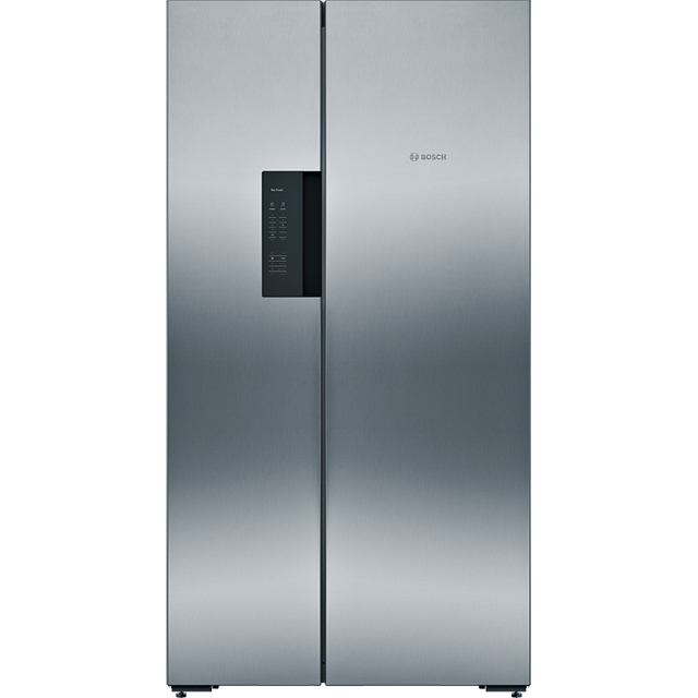 Bosch Serie 4 KAN92VI35 American Fridge Freezer - Stainless Steel Effect - A++ Rated Best Price, Cheapest Prices