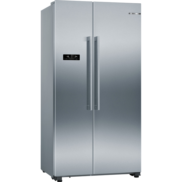 Bosch Serie 4 KAN93VIFPG American Fridge Freezer - Stainless Steel Effect - A++ Rated Best Price, Cheapest Prices