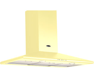 Britannia KB-170-100-C 100 cm Chimney Cooker Hood - Cream - D Rated - KB-170-100-C_CR - 1
