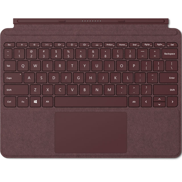 Microsoft Surface Go Signature Type Cover - Burgundy