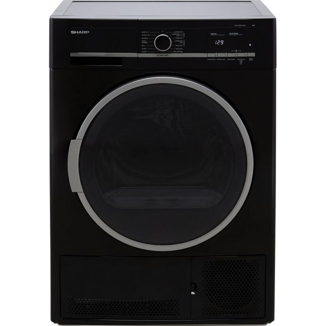 Sharp KD-GCB8S7GB9-EN Condenser Tumble Dryer - Black - B Rated