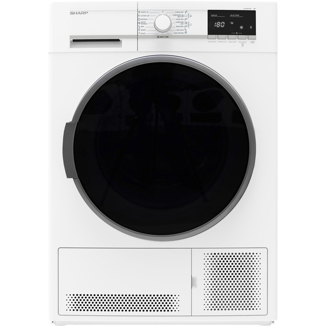 Sharp KD-GCB9S7GW9-EN 9Kg Condenser Tumble Dryer - White - B Rated - KD-GCB9S7GW9-EN_WH - 1