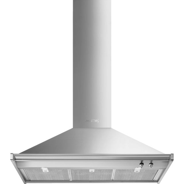 Smeg Classic KD100HXE Built In Chimney Cooker Hood - Stainless Steel - KD100HXE_SS - 1