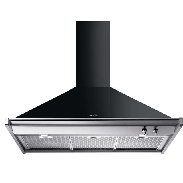 Smeg Opera KD100NE 100 cm Chimney Cooker Hood - Black - A Rated - KD100NE_BK - 1