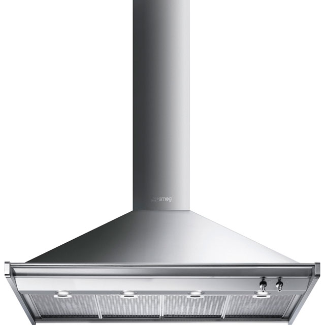 Smeg Opera 120 cm Chimney Cooker Hood - Stainless Steel - A+ Rated