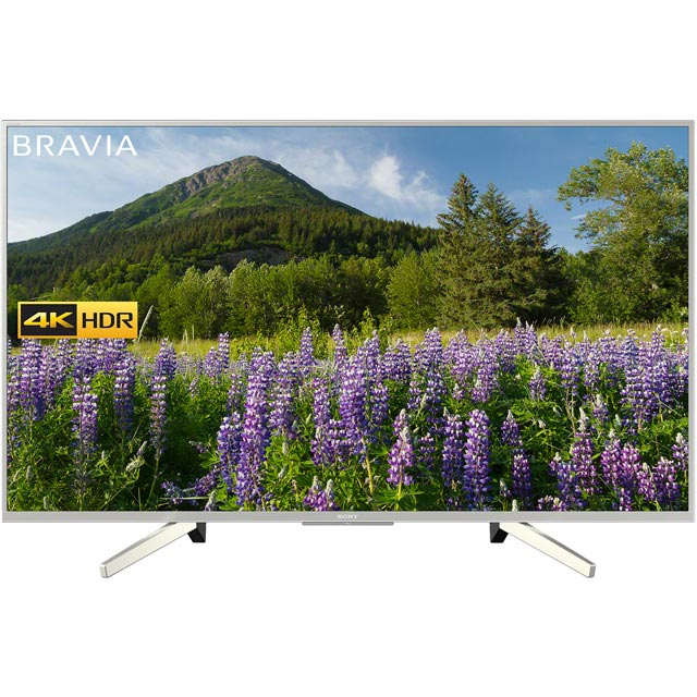 "Sony Bravia KD49XF7073SU 49"" Smart 4K Ultra HD TV with HDR and Freeview Play - Silver - [A Rated] - KD49XF7073SU - 1"