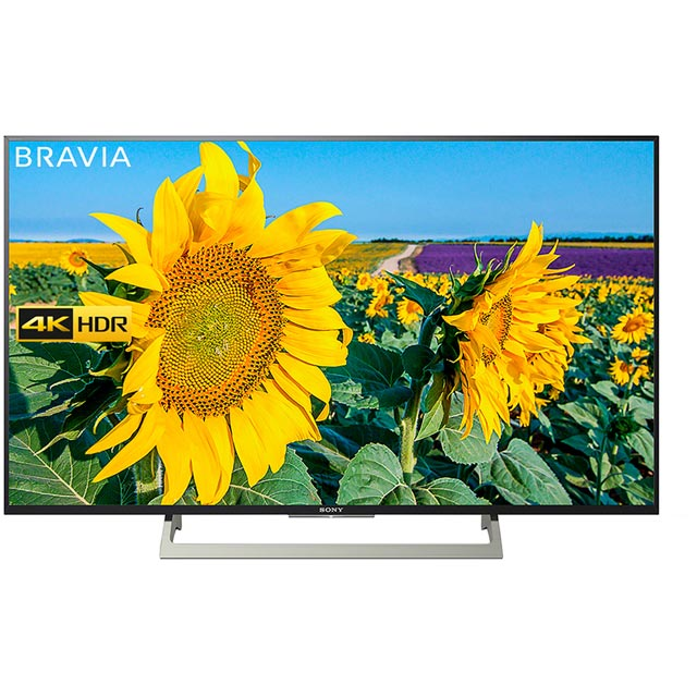 "Sony Bravia KD43XF8096BU 43"" Smart 4K Ultra HD Certified TV with HDR and YouView HD - Black - [A Rated]"
