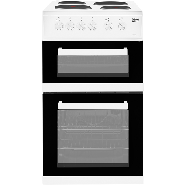 Beko Electric Cooker with Solid Plate Hob - White - A Rated