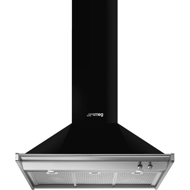 Smeg Opera KD90HNE 90 cm Chimney Cooker Hood - Black - A+ Rated - KD90HNE_BK - 1
