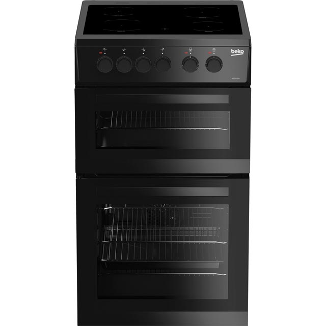 Beko KDC5422AK 50cm Electric Cooker with Ceramic Hob - Black - A Rated Best Price, Cheapest Prices