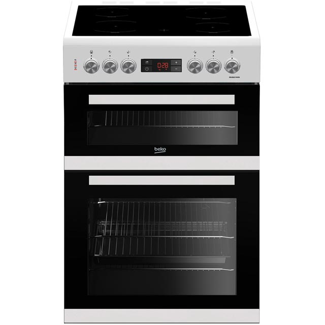 Beko KDC653W 60cm Electric Cooker with Ceramic Hob - White - A/A Rated Best Price, Cheapest Prices