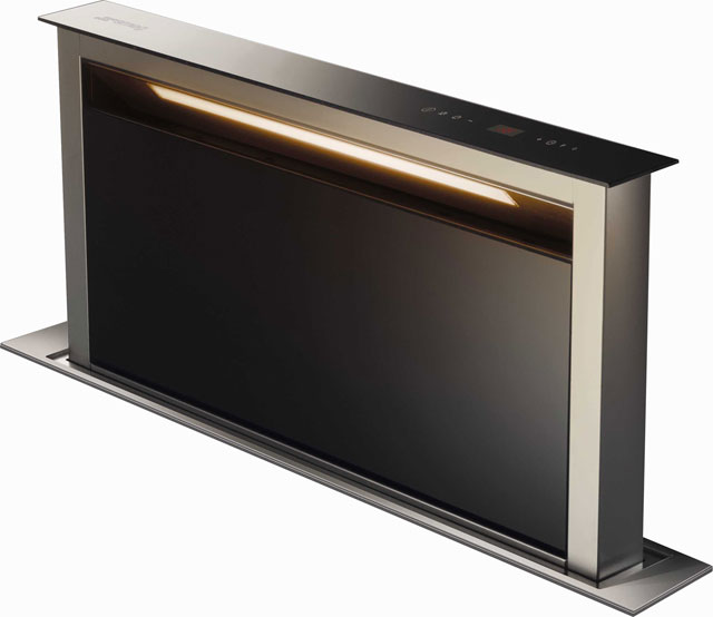 Smeg KDD90VXE-2 90 cm Integrated Cooker Hood - Stainless Steel / Black - KDD90VXE-2_SSB - 1
