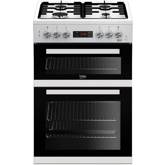 Beko KDDF653W 60cm Dual Fuel Cooker - White - A/A Rated