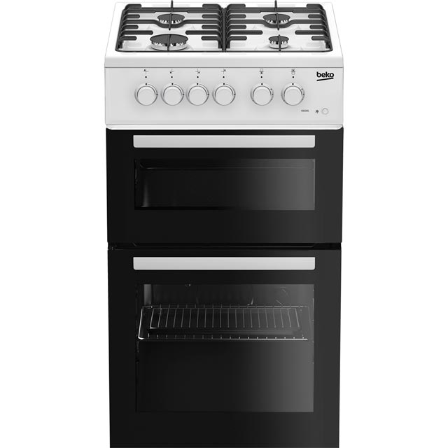 Beko KDG581W 50cm Gas Cooker with Full Width Gas Grill - White - A+ Rated - KDG581W_WH - 1