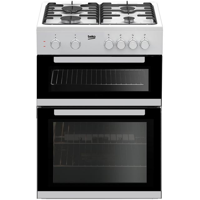 Beko KDG611W 60cm Gas Cooker with Full Width Gas Grill - White - A+/A Rated - KDG611W_WH - 1