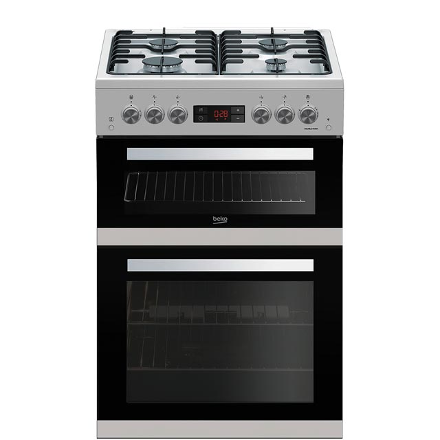 Beko KDG653S 60cm Gas Cooker with Full Width Gas Grill - Silver - A+/A Rated - KDG653S_SI - 1