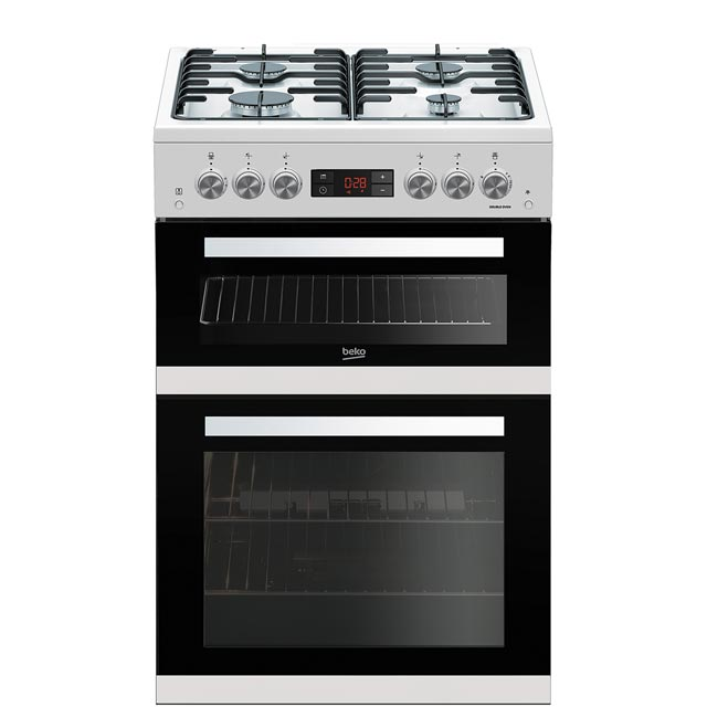 Beko KDG653W 60cm Gas Cooker with Full Width Gas Grill - White - A+/A Rated - KDG653W_WH - 1