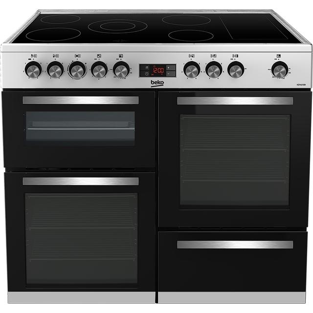 Beko KDVC100X Electric Range Cooker - Stainless Steel - KDVC100X_SS - 1