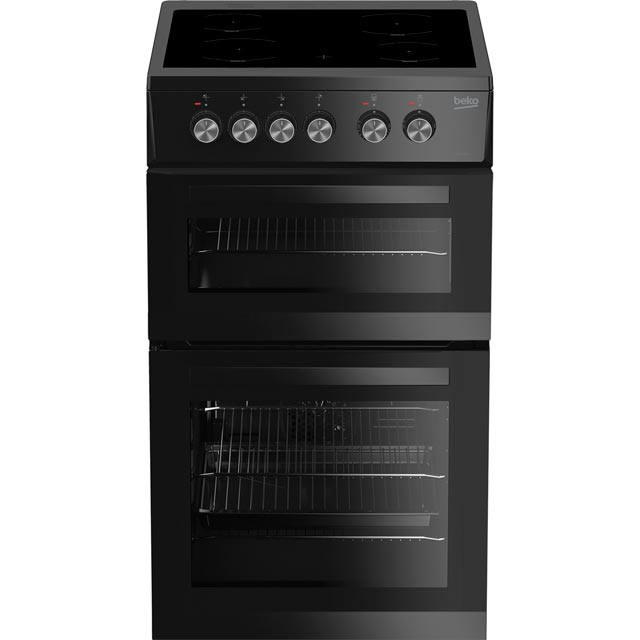 Beko KDVC563AK 50cm Electric Cooker with Ceramic Hob - Black - A/A Rated - KDVC563AK_BK - 1
