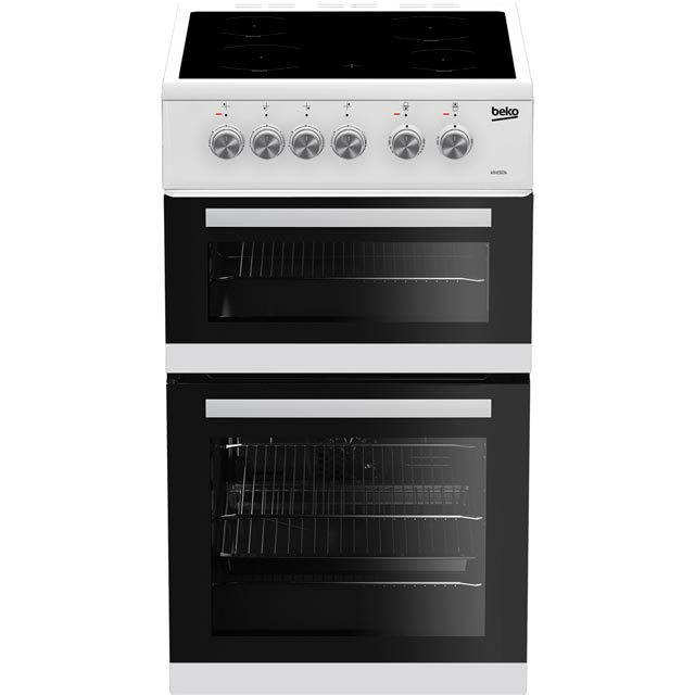 Beko KDVC563AW 50cm Electric Cooker with Ceramic Hob - White - A/A Rated - KDVC563AW_WH - 1