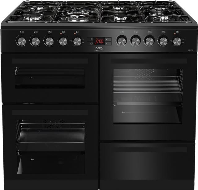 Beko KDVF100K Free Standing Range Cooker in Black