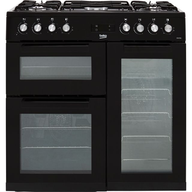 Beko KDVF90K 90cm Dual Fuel Range Cooker - Black - A/A Rated
