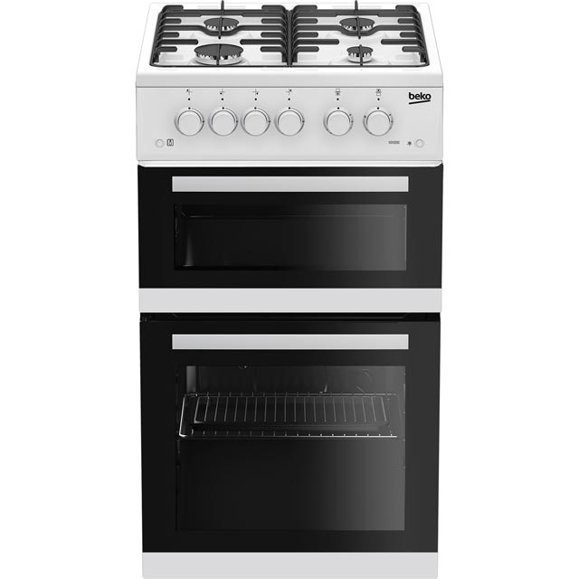 Beko KDVG592W 50cm Gas Cooker with Full Width Gas Grill - White - A+/A Rated - KDVG592W_WH - 1