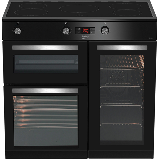 Beko KDVI90K 90cm Electric Range Cooker with Induction Hob - Black - A/A Rated - KDVI90K_BK - 1