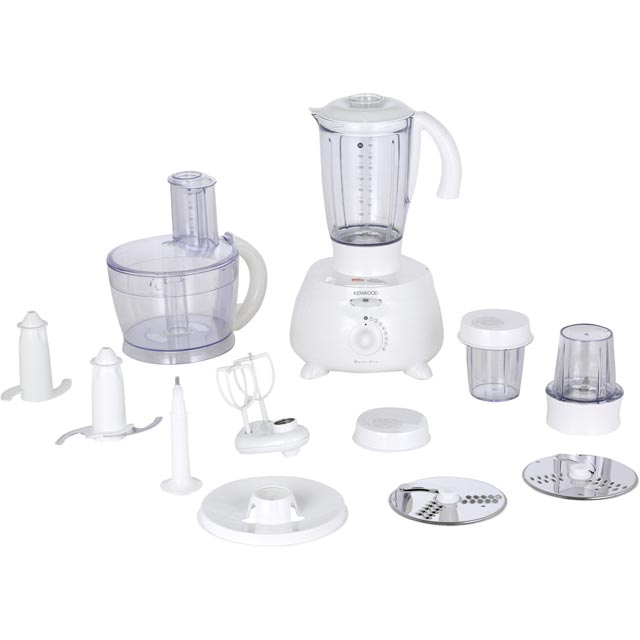 Kenwood MultiPro FP691A 2.9 Litre Food Processor With 8 Accessories - White - FP691A_WH - 1