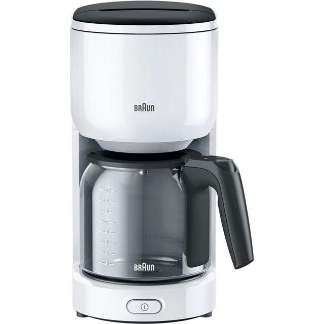 Braun PurEase Series 3 KF3100WH Filter Coffee Machine - White - KF3100WH_WH - 1